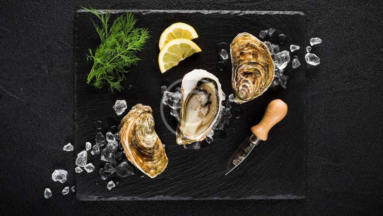 Irish Stout Granita with Raw Oysters